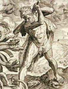 Hércules contra la Hidra.